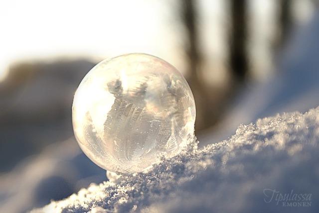 jäätynyt saippuakupla, frozen soapbubble