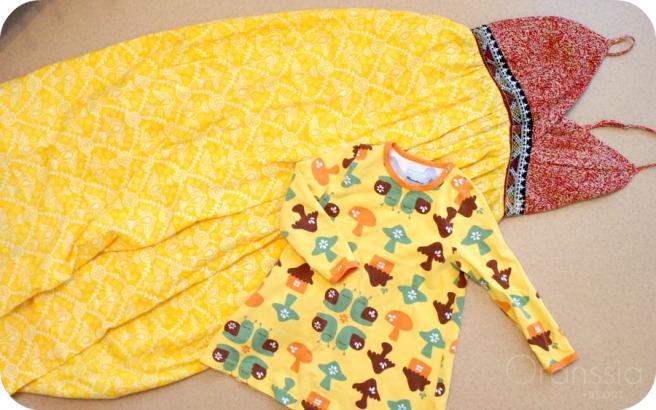 värikkäät vaatteet, kirppislöytö