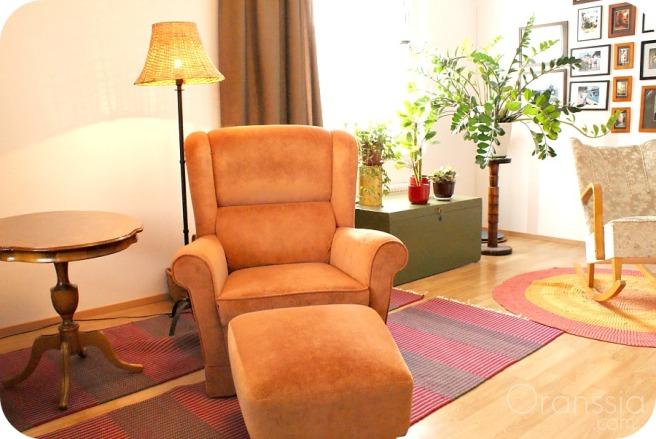värikäs koti, olohuone