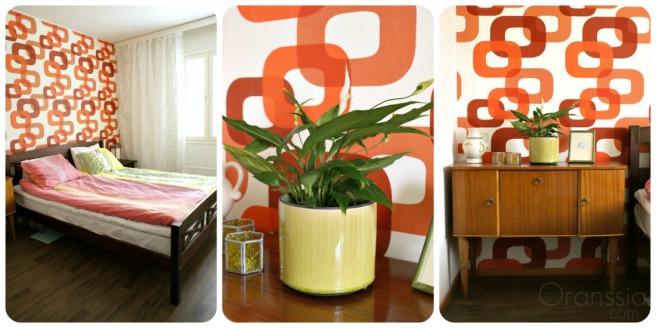 boheemi, värikäs aikuisten makuuhuone
