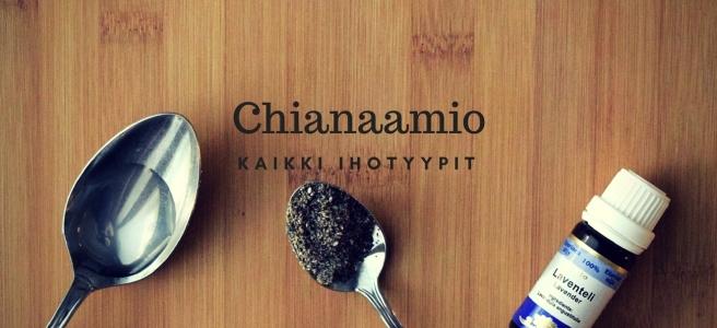 chia-siemen naamio kotikosmetiikka
