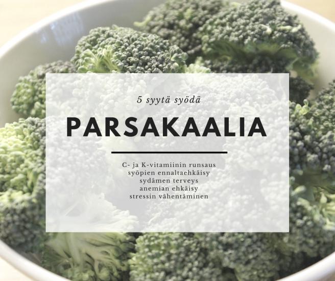 parsakaalin terveyshyödyt